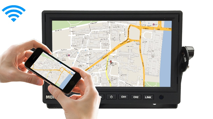 Wifi Monitor linked to smartphone Google Maps Navigation App SKU-18691
