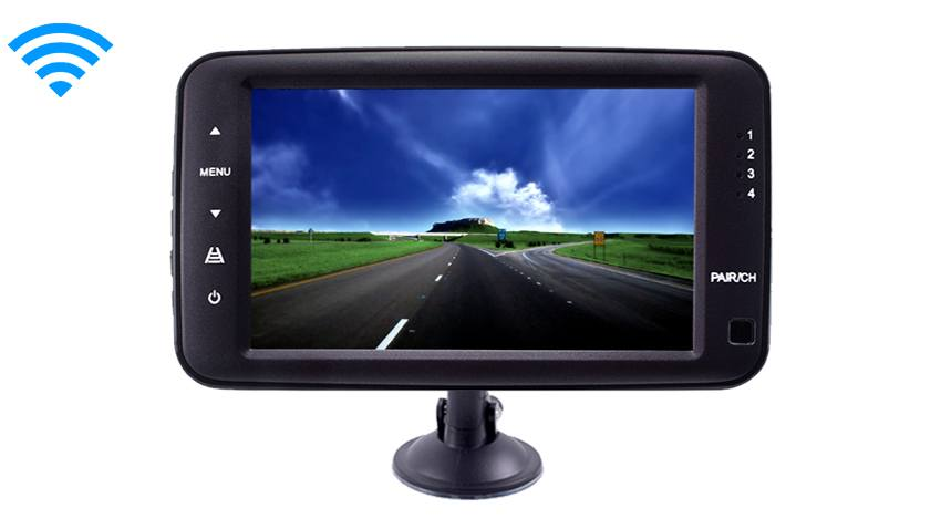 The 5 Inch LCD Monitor For Built in systems can also be mounted from above to keep your dash clear.