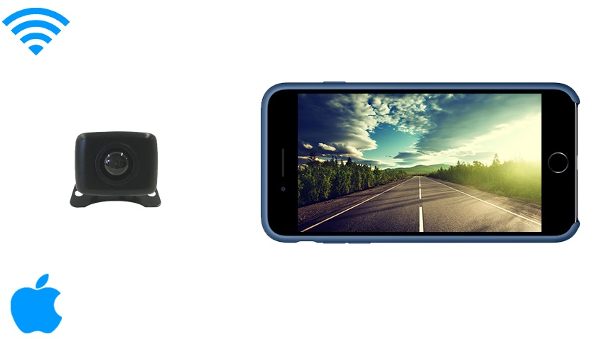 IPhone Backup Camera works with iPad, iPad mini, iPod (iOS) | SKU11557