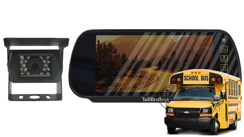 Wired School Bus Backup Camera kit