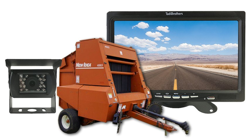 Commercial Wireless Hay Baler Backup Camera System