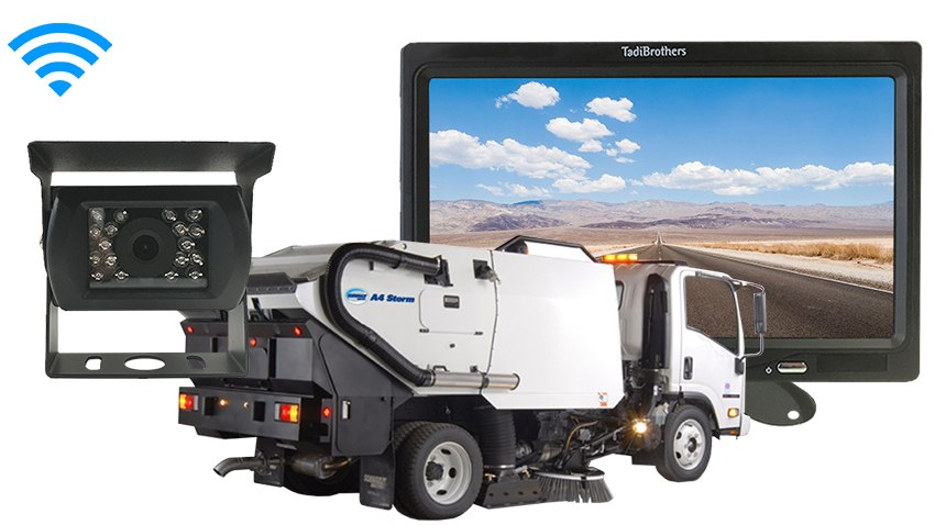 Street Sweeper Backup Camera system