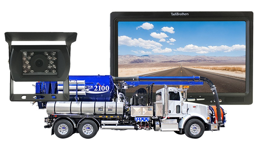 Sewer Flusher Truck Backup Camera system