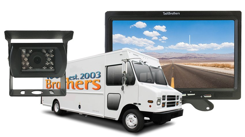 Delivery Truck Backup Camera 7 Inch Monitor With Roof