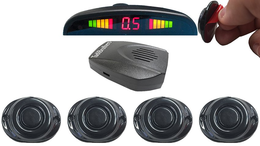 Parking Backup Sensor System Stick On with Sound and Volume Control  (TB-S058SS)