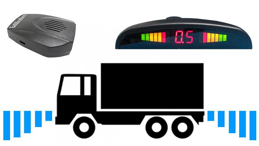 Parking & Backup Sensor System for Truck & Commercial Vehicles