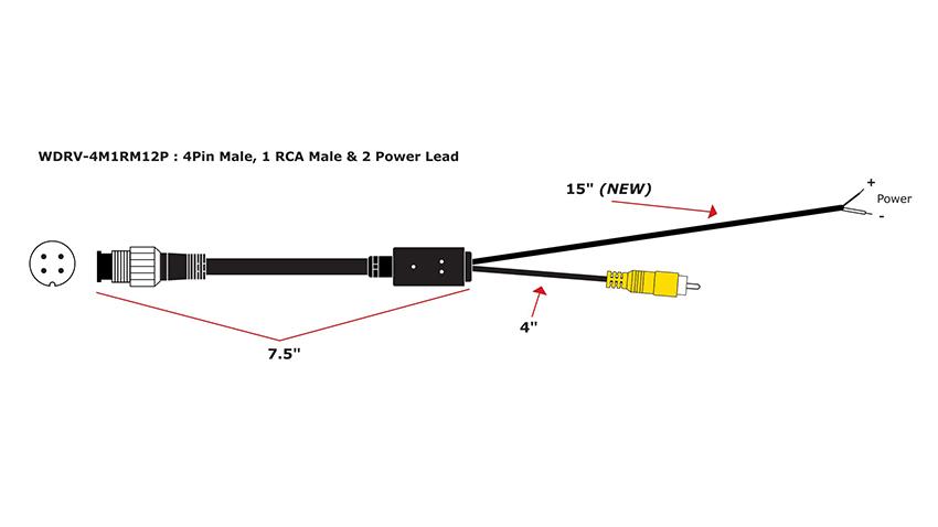 weldex wiring diagram weldex backup monitor adapter 4pin to rca connector  weldex backup monitor adapter 4pin to