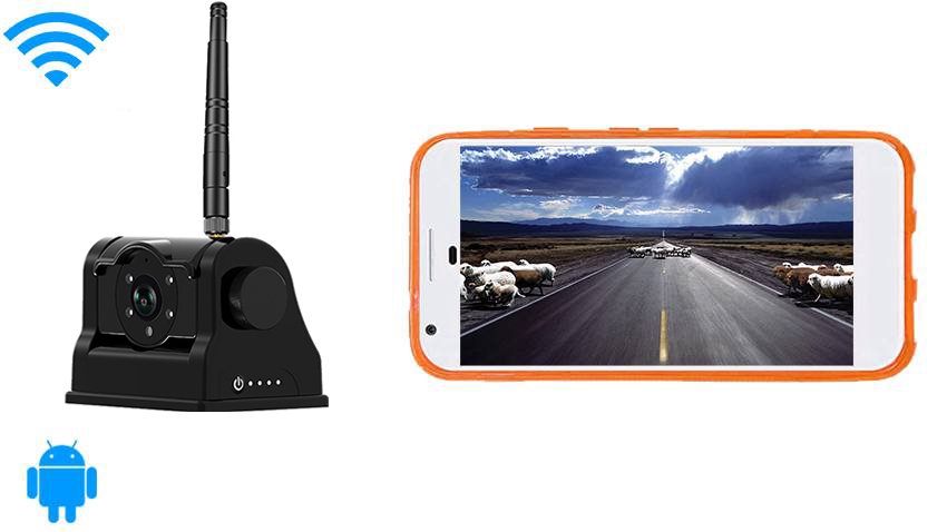 Android Wifi Magnet Hitch Camera system