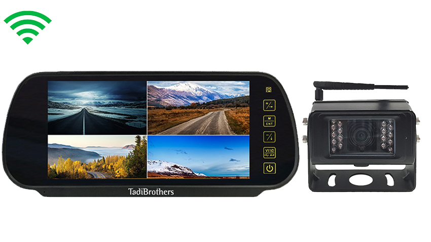 7-Inch Monitor with Built In Digital Wireless 130° Backup Camera and Audio | SKU-90128