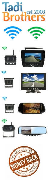 aftermarket reverse camera and a monitor