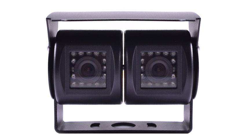 Dual lens RV backup camera with night vision