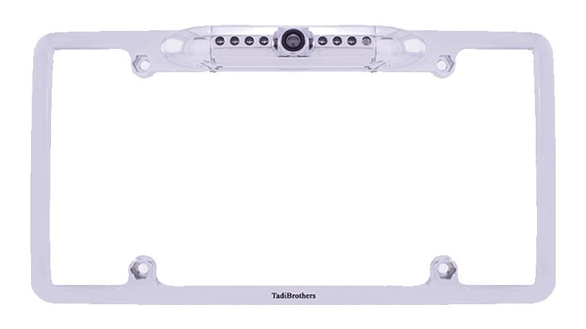 aftermarket license plate camera frame