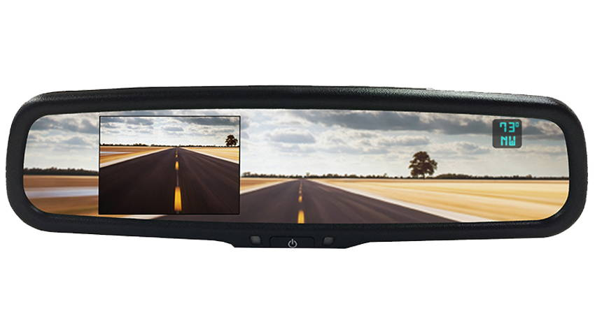 aftermarket rear view mirror monitor for backup camera