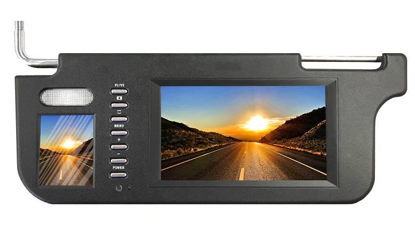 visor monitor for reverse camera