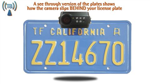 installed digital license plate camera
