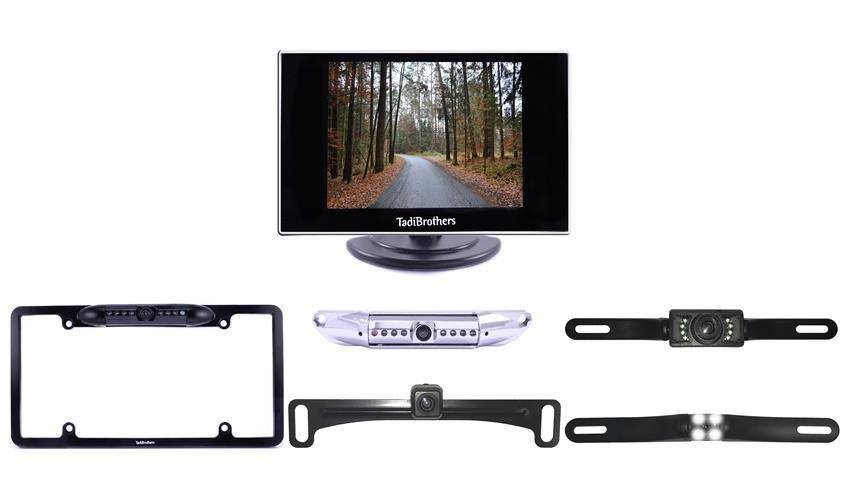 What kinds of license plate backup camera you carry