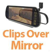 Clips over existing mirror