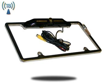 120° Degree Black License Plate Frame HD Backup Car Camera (Hi-Res Wireless CCD) | SKU93101
