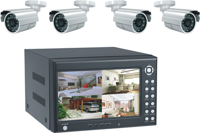 Complete Camera DVR Kit (4 or 8 camera system)