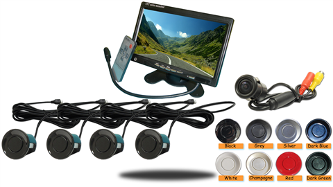 Dual Parking Sensor and Backup Camera System with Sound