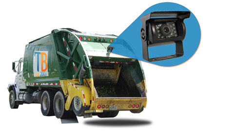 Commercial Garbage Truck Backup Camera System Sku33464