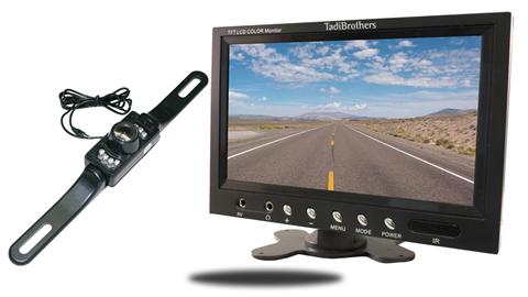 License plate backup Camera with 7 inch LCD Monitor | SKU-16248