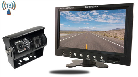 7 Inch Monitor with 120 Degree CCD Double Mounted Wireless RV Backup Camera Perfect for RV's, Trailers, and Campers.
