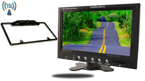 9 inch Monitor with Wireless CCD Black License Plate Frame Backup Camera Great for Cars or Suvs!