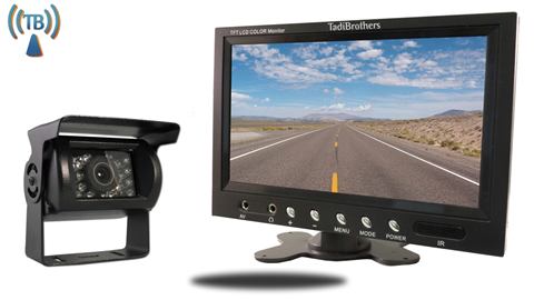 7 inch Monitor with Wireless CCD Mounted RV Backup Camera Great for RV's and Trailers!