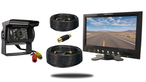 5th Wheel Backup Camera System with a 7