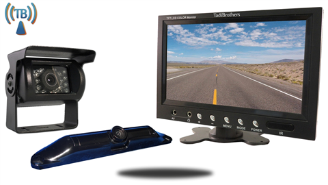 5th Wheel Wireless Backup Camera System with a 7