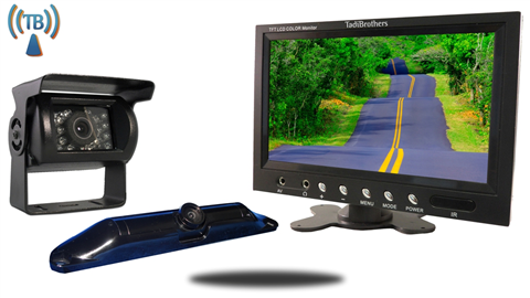 5th Wheel Wireless Backup Camera System with a 9 Inch Monitor and 2 Backup Cameras