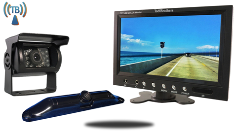 5th Wheel Wireless Backup Camera System with a 12