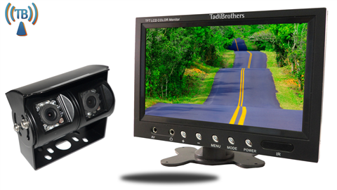 9 Inch Monitor with 120 Degree CCD Double Mounted Wireless RV Backup Camera Great for RV's, Trailers and Campers!