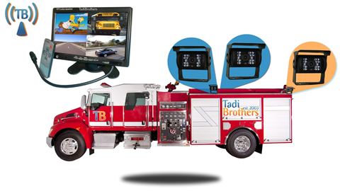 10.5 Inch Wireless Ultimate Fire Truck Backup Camera System