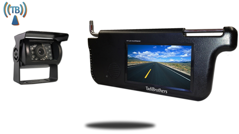 7 Inch Visor Monitor with Wireless Mounted RV Backup Camera