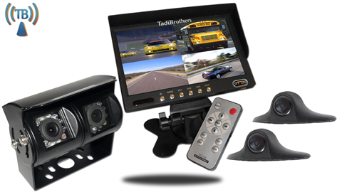 7 Inch Wireless Ultimate RV Backup Camera System with Double CCD RV Camera