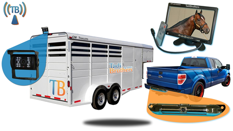 2 Cameras backup system for horse trailer and for Pickup truck|7 inch monitor|SKU-82480
