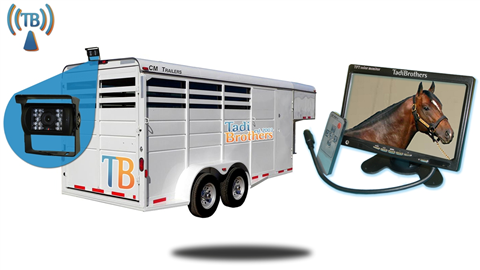 9 Inch Horse Trailer Monitor with Wireless Mounted Backup Camera