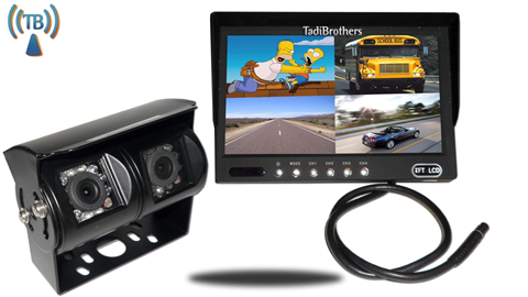 9 Inch Split Monitor and a 120° CCD Wireless Double Mounted RV Backup Camera Great for RV's!