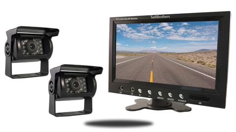 Two Wired RV Backup Cameras | 7-Inch Monitor |SKU36311