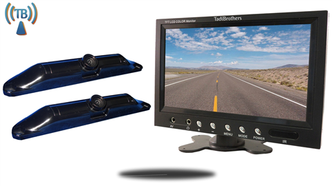 7 Inch Monitor with 2 Wireless CCD Steel License Plate Night vision Backup Cameras Great for Trucks, and Hooking up a trailer to your hitch!