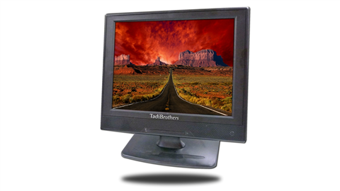 image of the 12 inch monitor from the front with bash connected