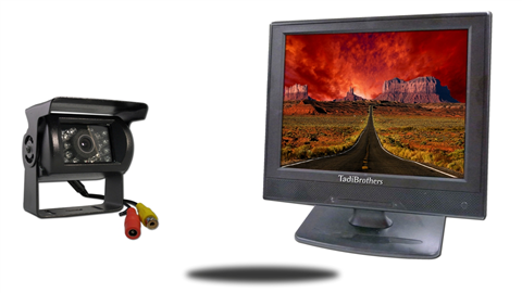 12 inch lcd monitor with 120 degreee rv backup camera