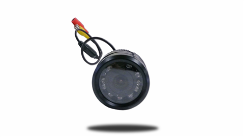Frontal view of the 170 degree wide angle hi-res CCD bumper backup camera. Great for large vehicles with blind spots. SKU23912