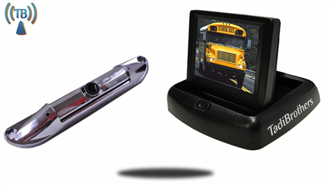 Wireless Silver License Plate Backup Camera|Pop up Monitor|SKU36796