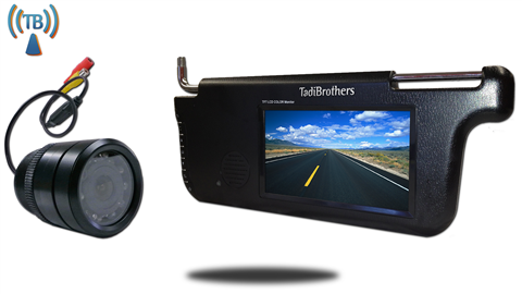 7-Inch Visor Monitor and a Wireless 150° Bumper Backup Camera (RV or Car Backup System)