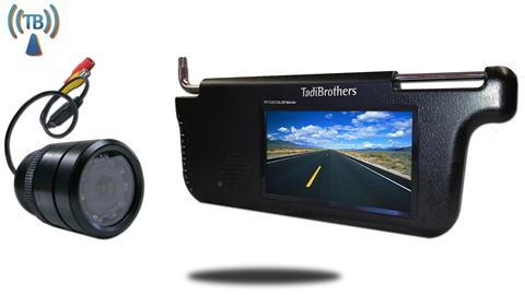 7-Inch Visor Monitor and a Wireless 150° Bumper Backup Camera (RV or Car Backup System)