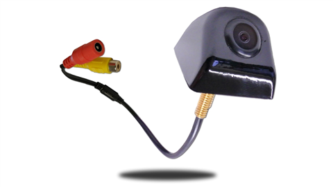 The cubed tailgate camera is a low profile design mounted next to the handle of your truck's tailgate