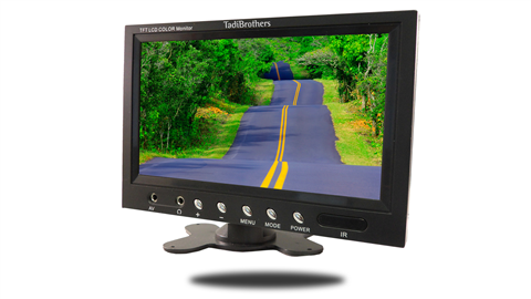 9 inch monitor frontal view